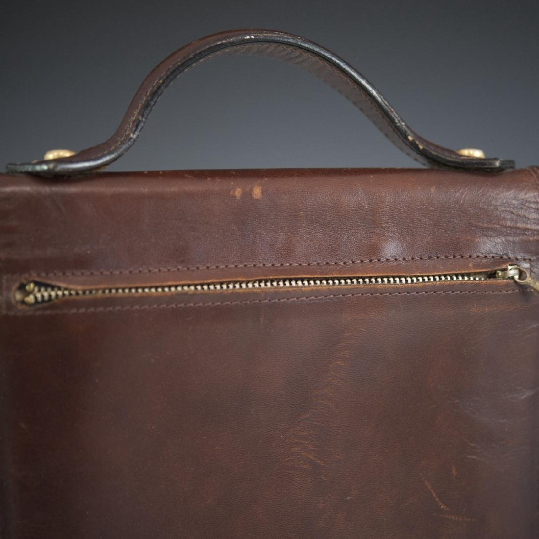 Leather & Brass Briefcase Satchel - 4