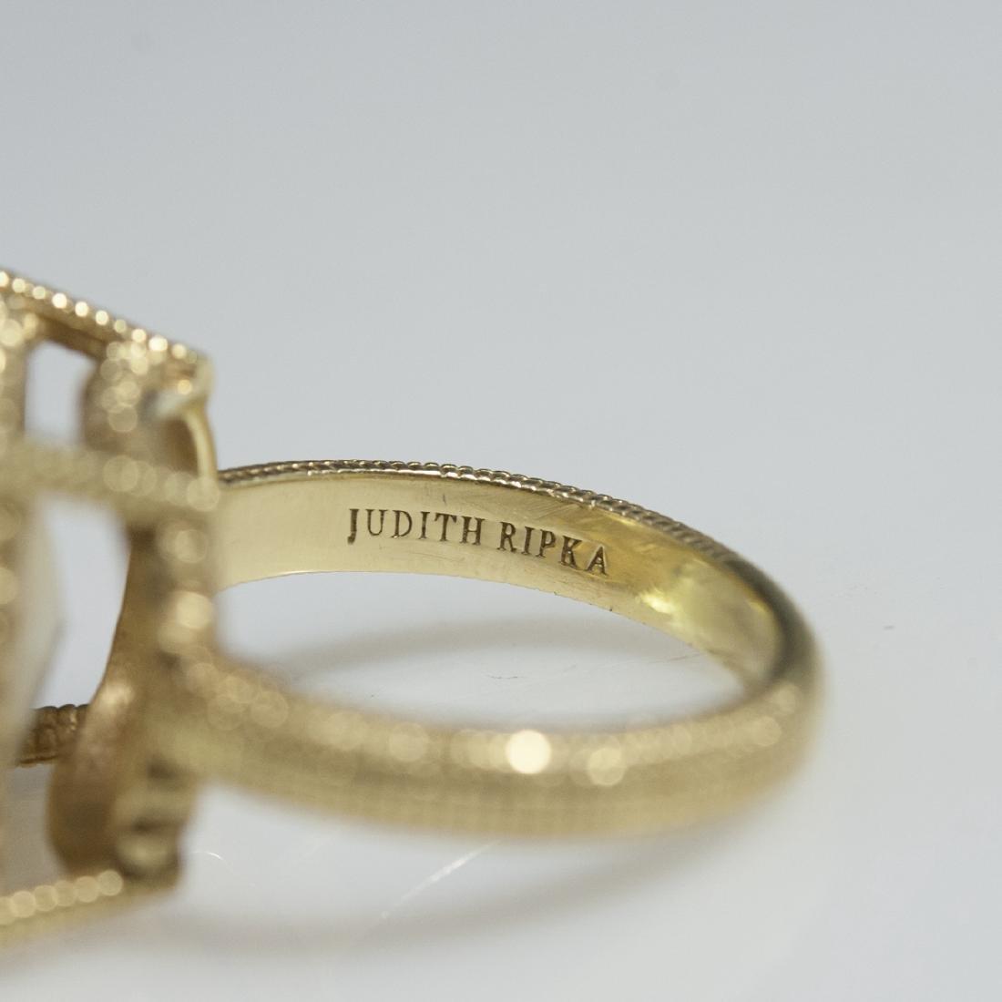 Judith Ripka 18kt Gold & Canary Quartz Ring - 2