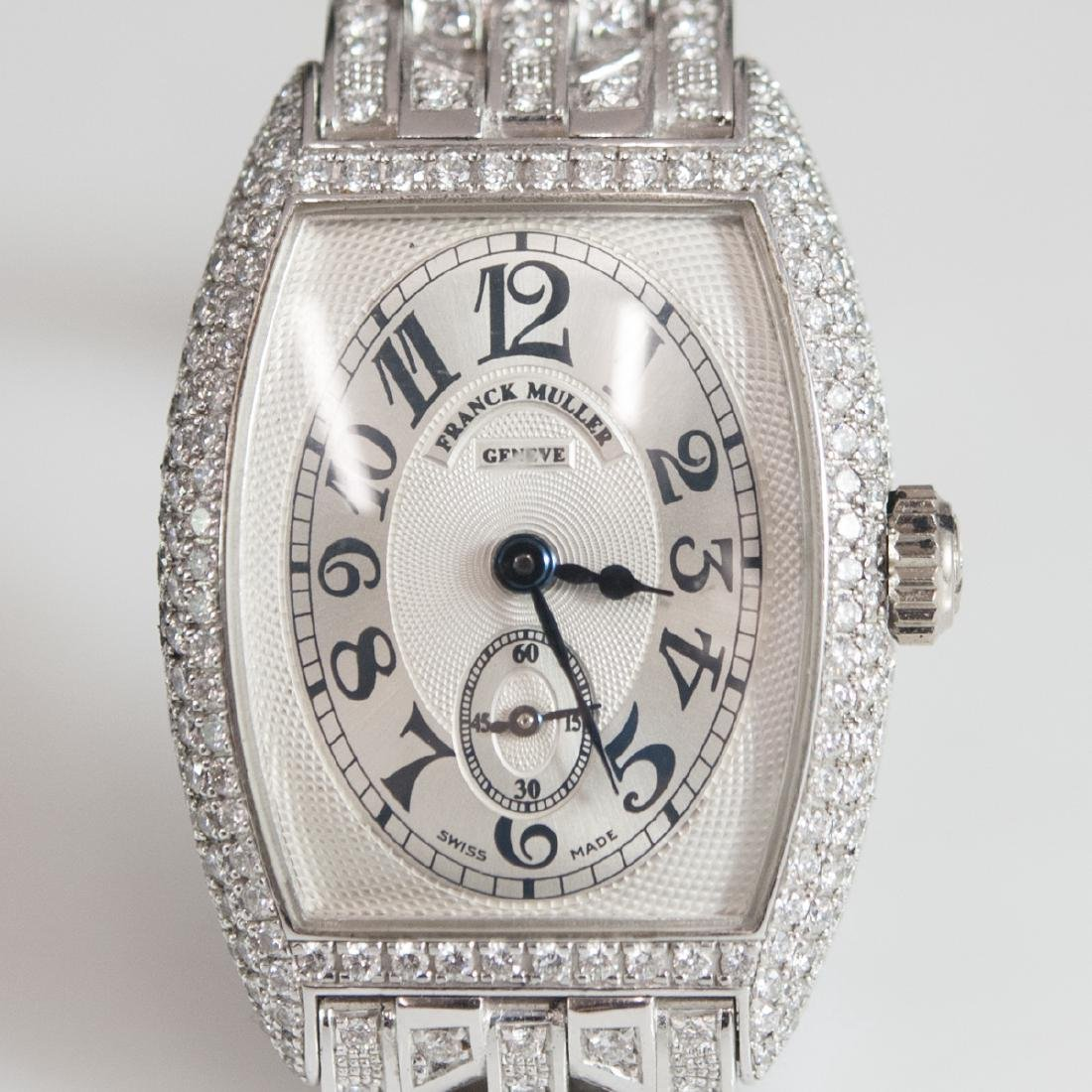 Franck Muller Chronometro 18kt Gold Diamond Watch - 3