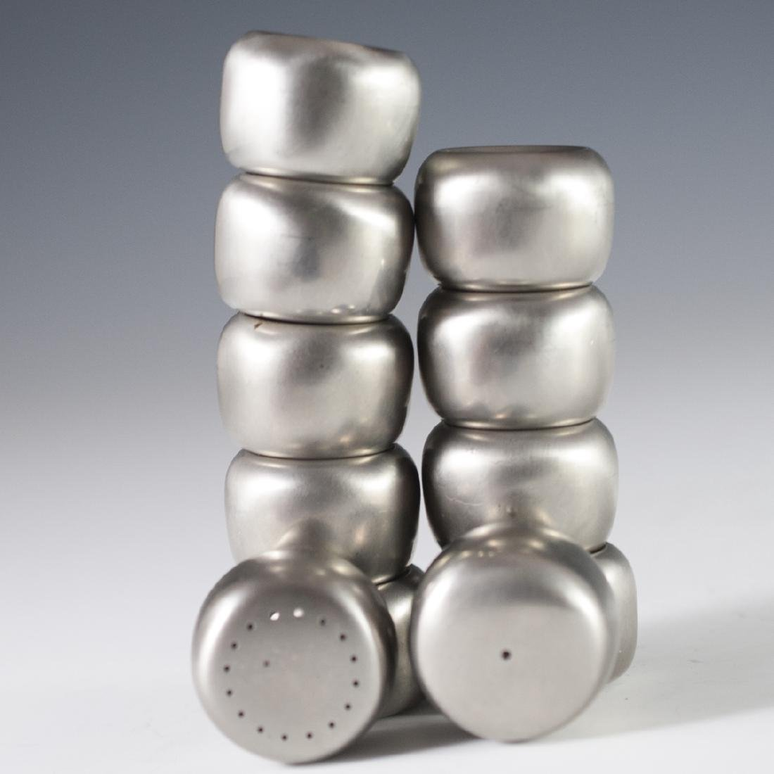 Georg Jensen Stainless Steel Salt & Pepper Shakers