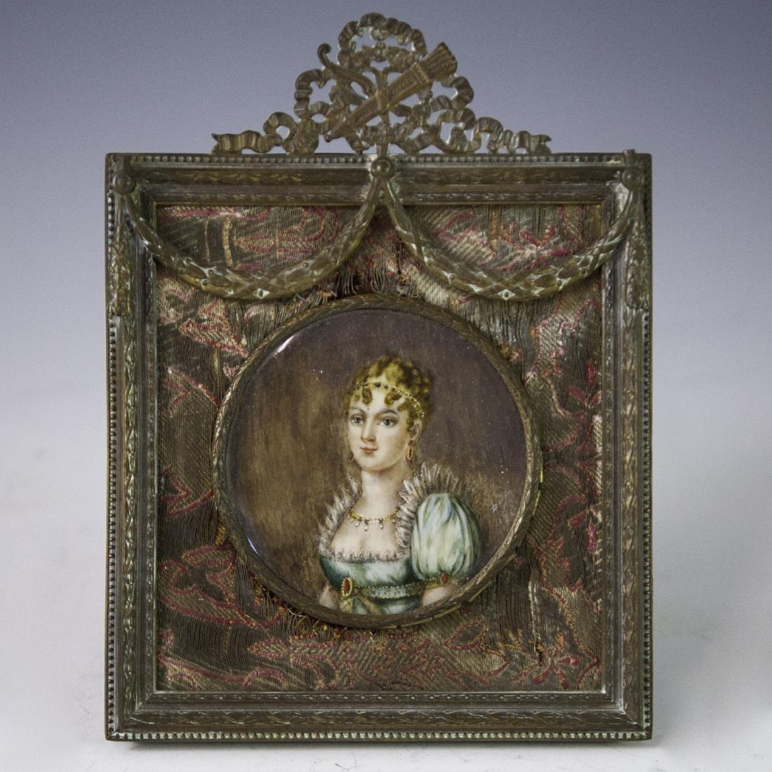 Antique Signed Miniature Portrait