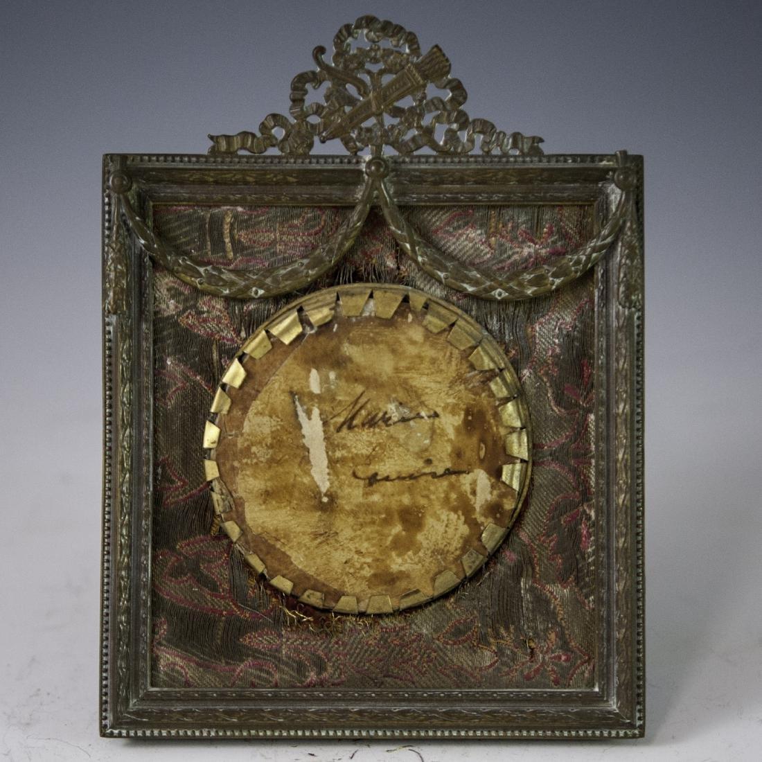 Antique Signed Miniature Portrait - 5