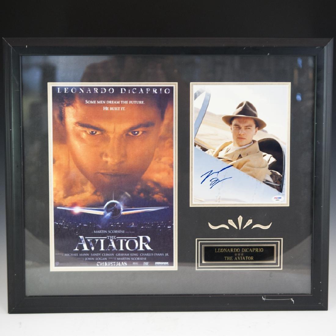 """Leonardo Dicaprio Signed """"The Aviator"""" Poster"""