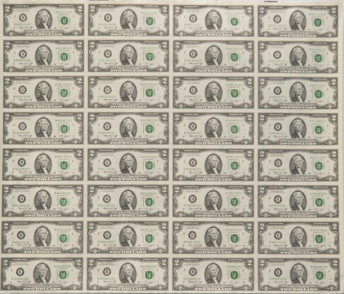 1976 Uncut $2.00 Bills