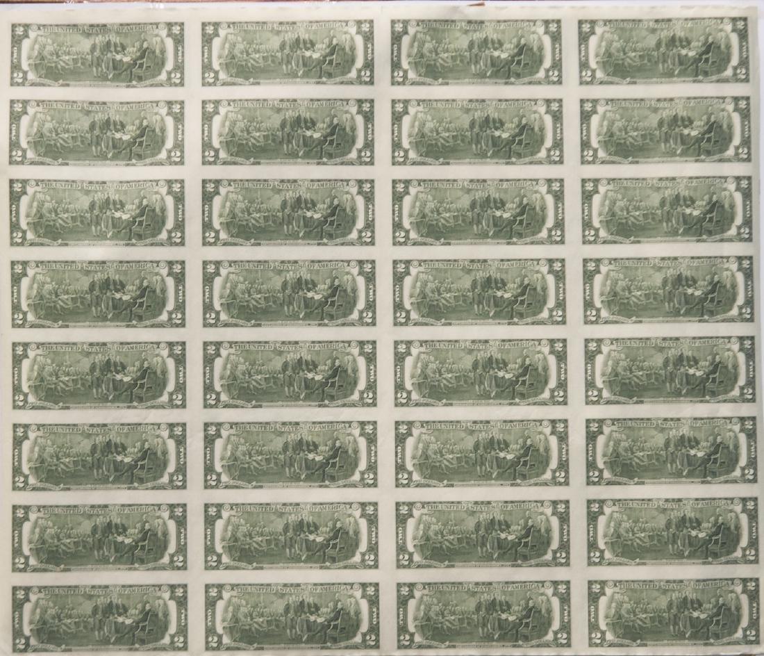 1976 Uncut $2.00 Bills - 2