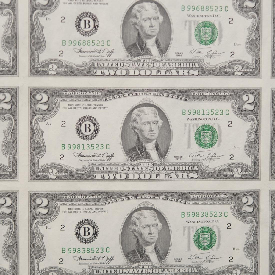 1976 Uncut $2.00 Bills - 3