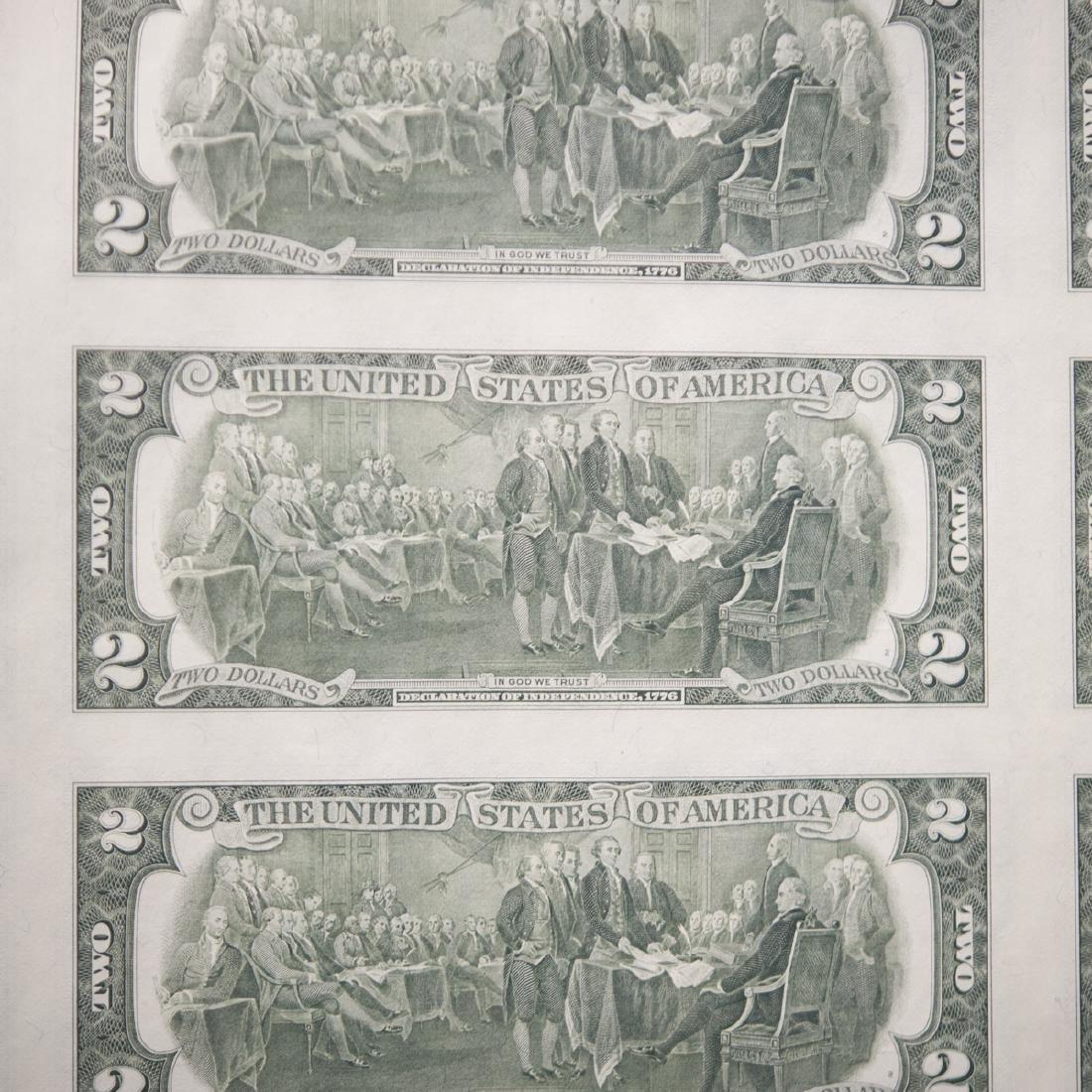1976 Uncut $2.00 Bills - 5