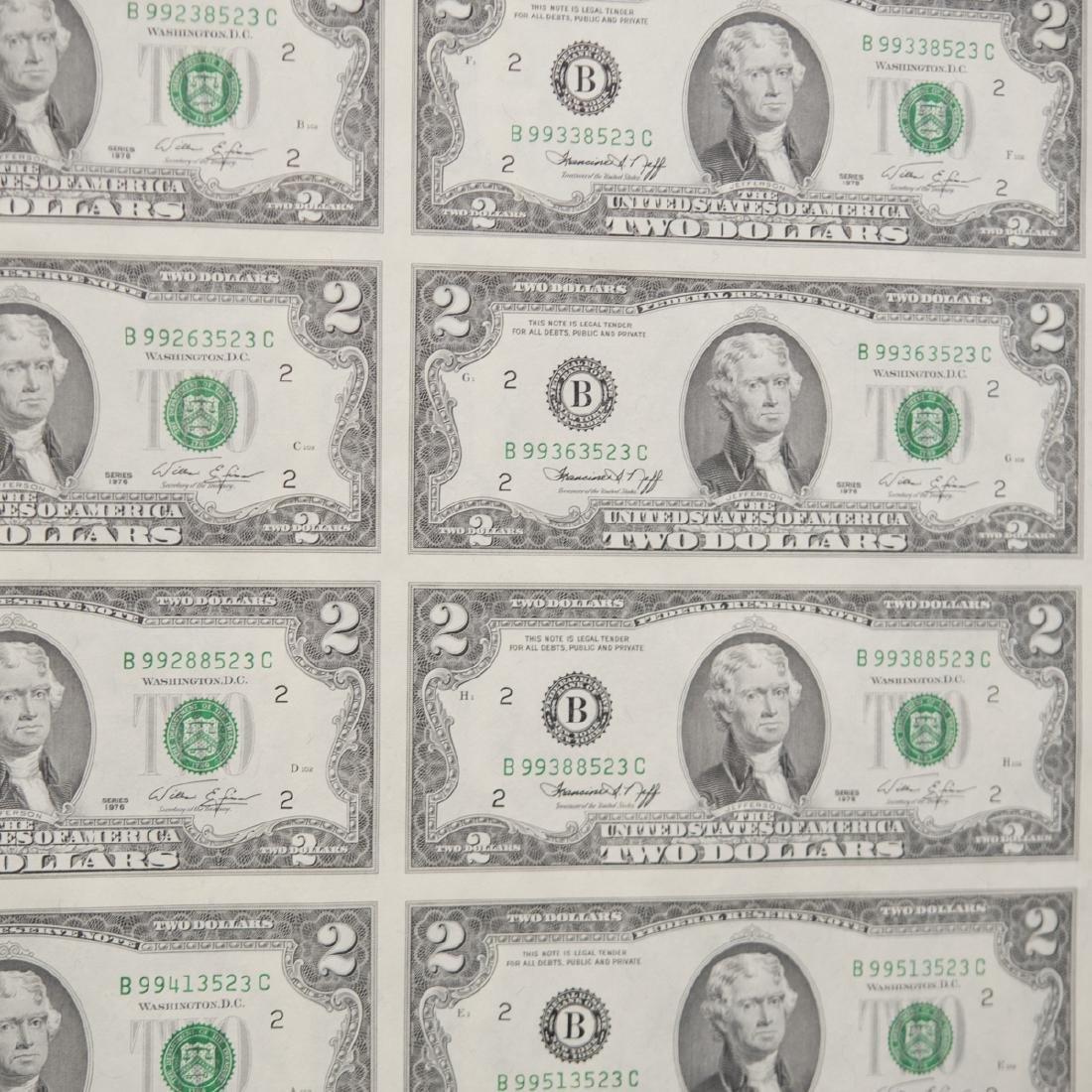 1976 Uncut $2.00 Bills - 6