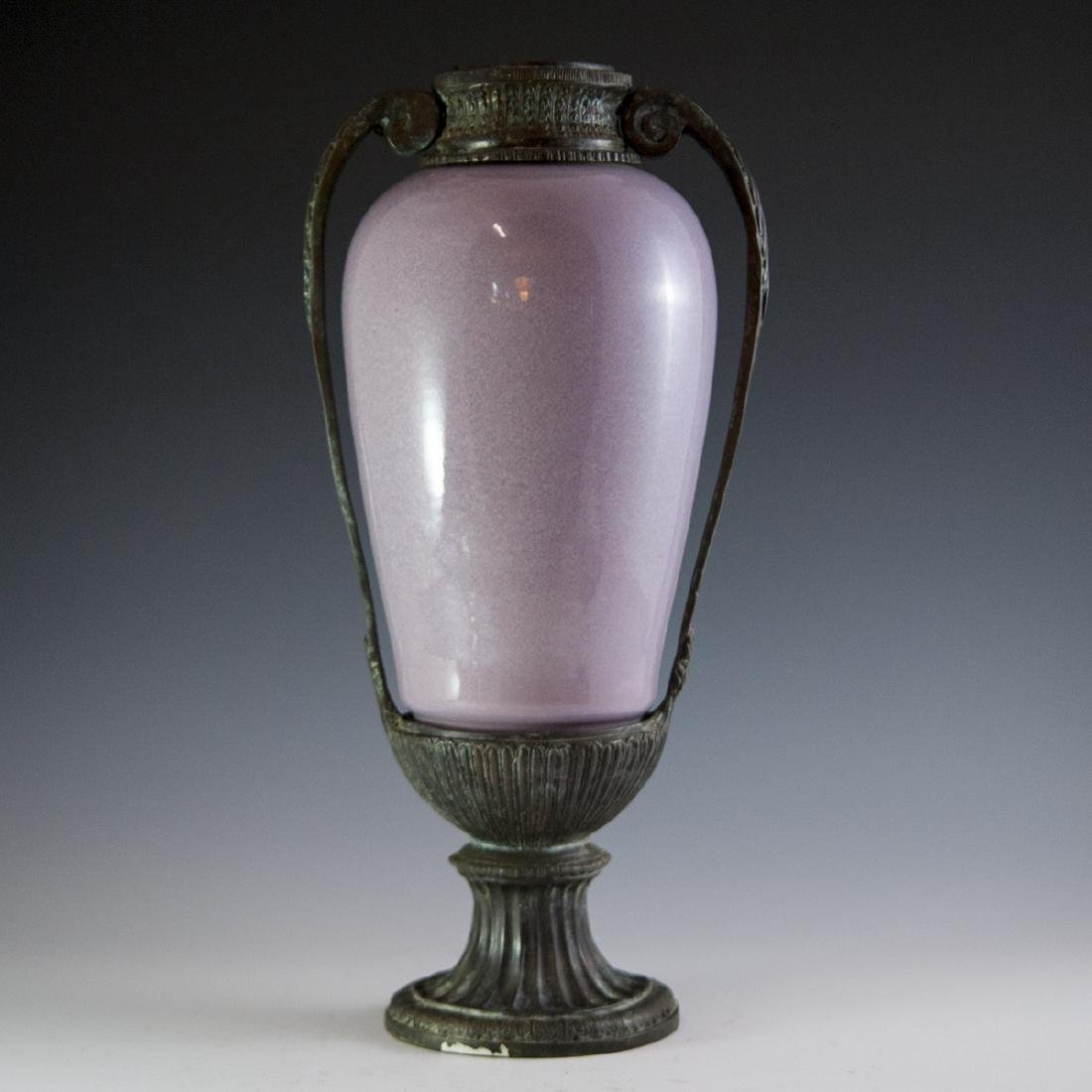 Decorative Porcelain & Bronze Vase