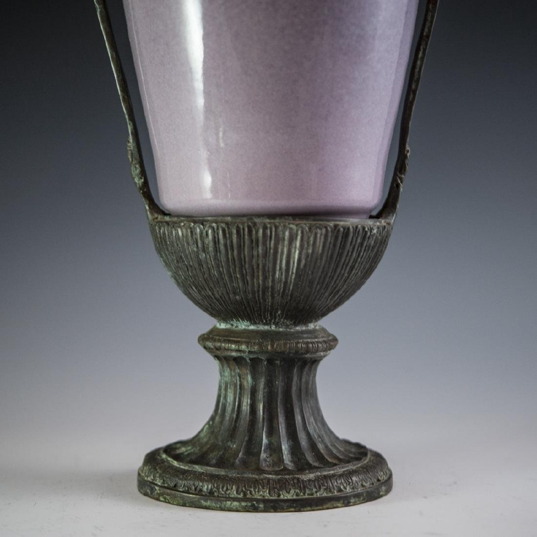 Decorative Porcelain & Bronze Vase - 4