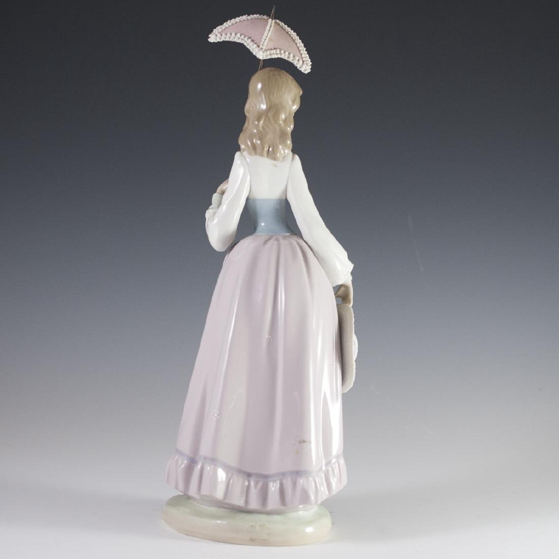 "Lladro Porcelain ""Lady With Parasol"" - 5"