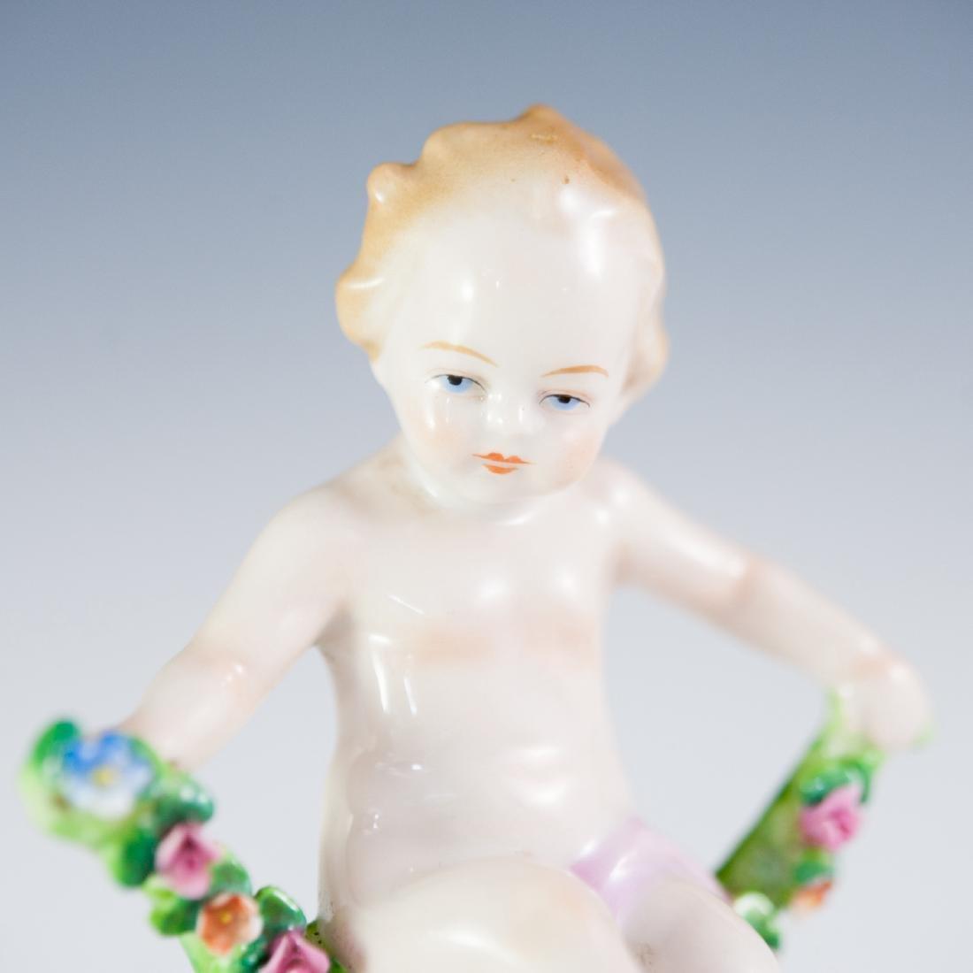 Capodimonte Porcelain Putti Figurine - 4