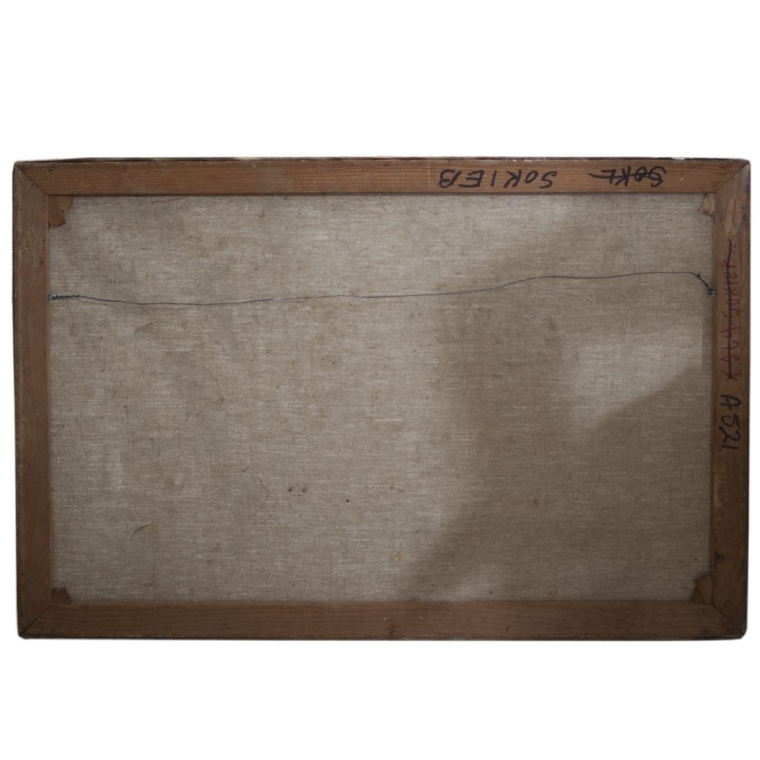 "Antique Nautical Oil on Canvas Signed:""Budkaik"" - 3"