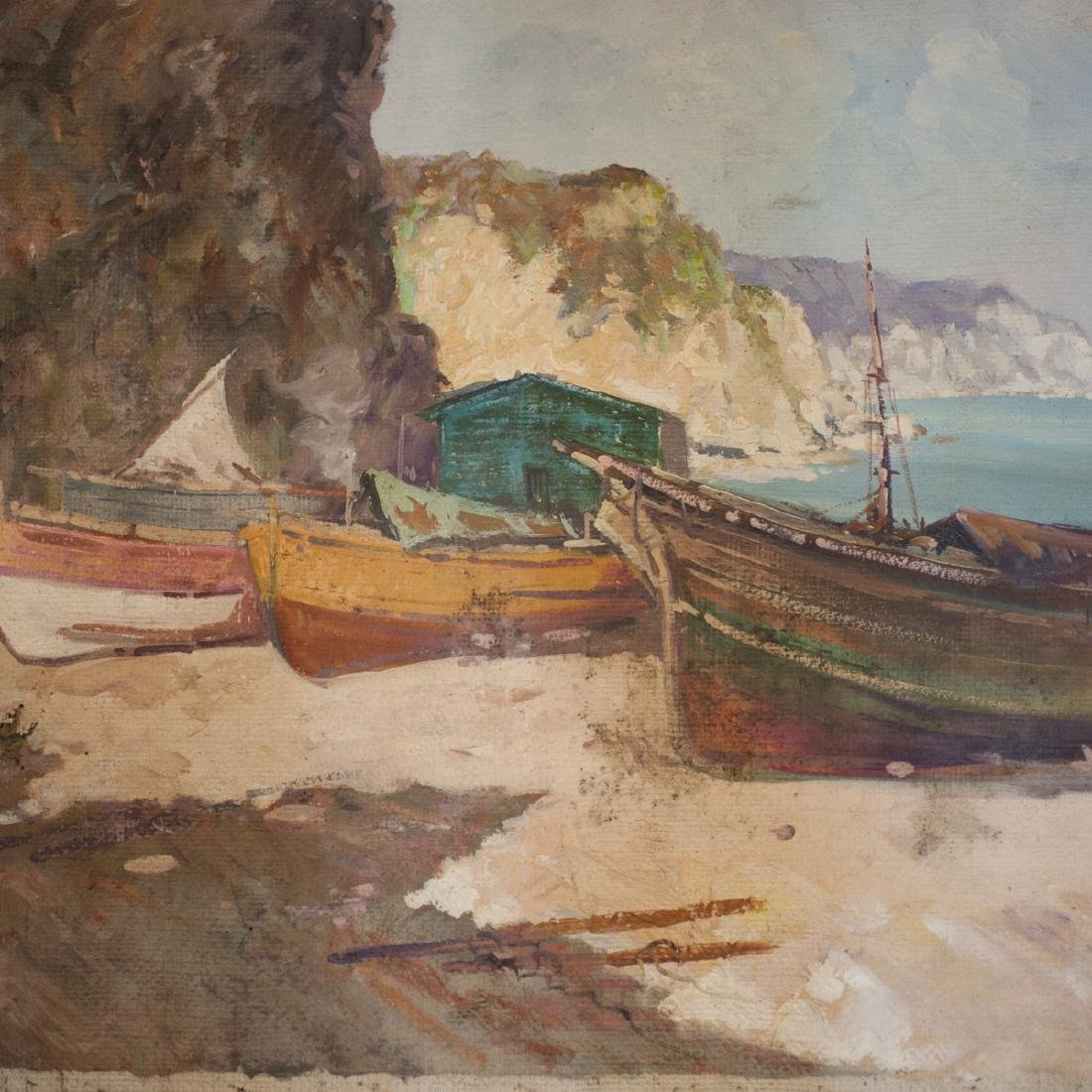 """Antique oil on Canvas Signed:"""" A. Giordano"""" - 2"""