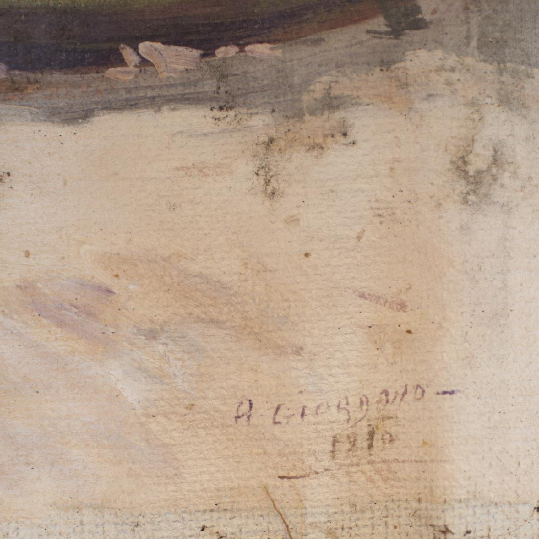 """Antique oil on Canvas Signed:"""" A. Giordano"""" - 3"""