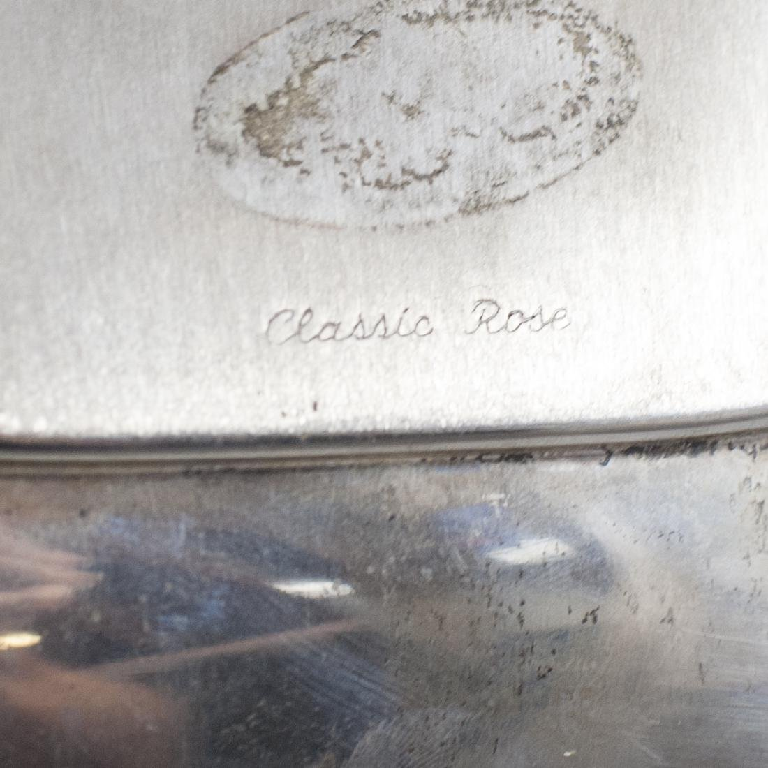 """Reed & Barton Sterling """"Classic Rose"""" Tray - 2"""