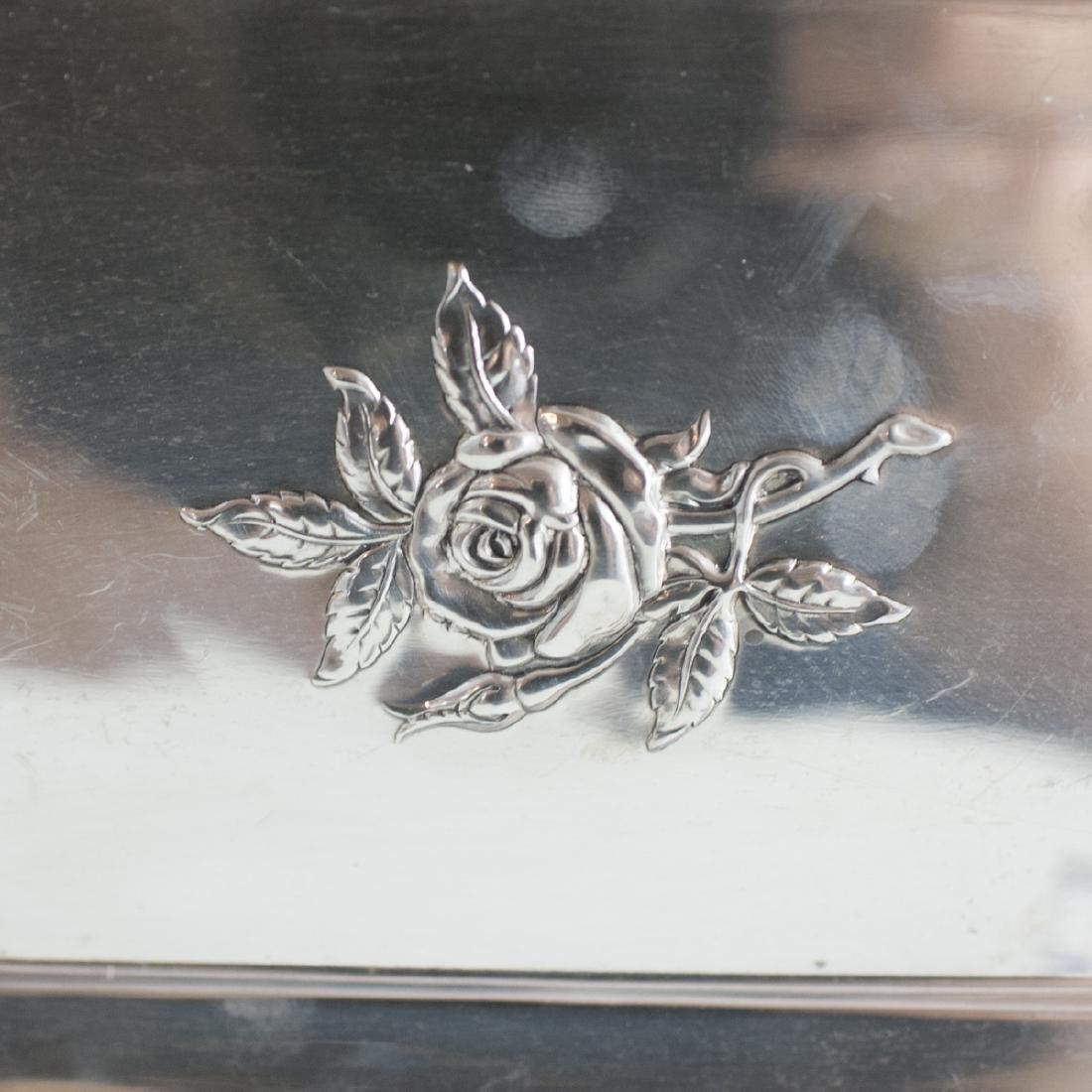 """Reed & Barton Sterling """"Classic Rose"""" Tray - 4"""