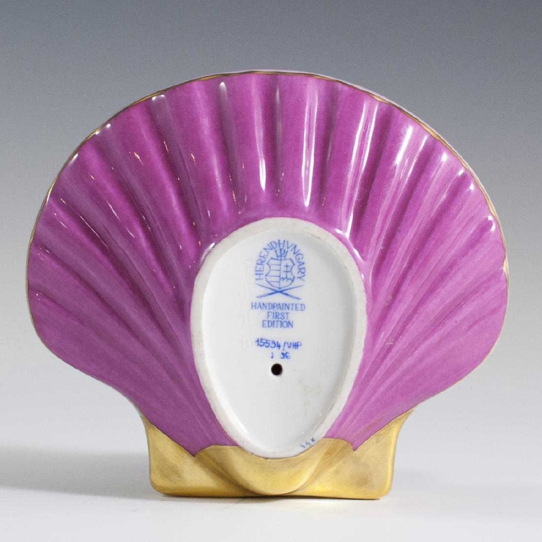 """Herend Porcelain Fishnet """"VHP"""" Sea Shell - 2"""
