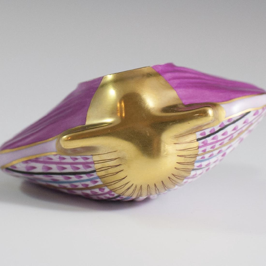"""Herend Porcelain Fishnet """"VHP"""" Sea Shell - 3"""