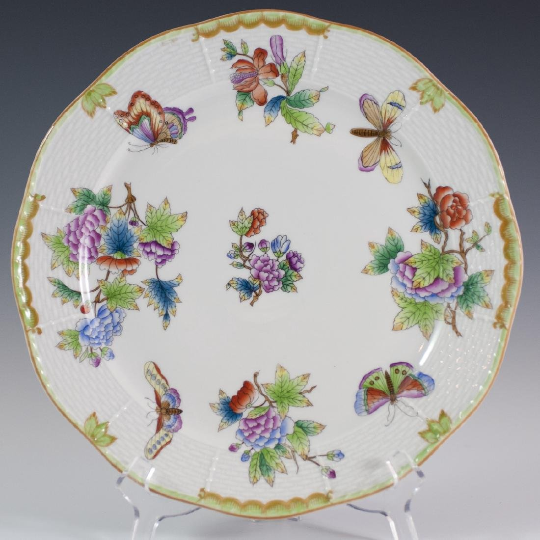 """Herend Porcelain """"Queen Victoria"""" Charger"""