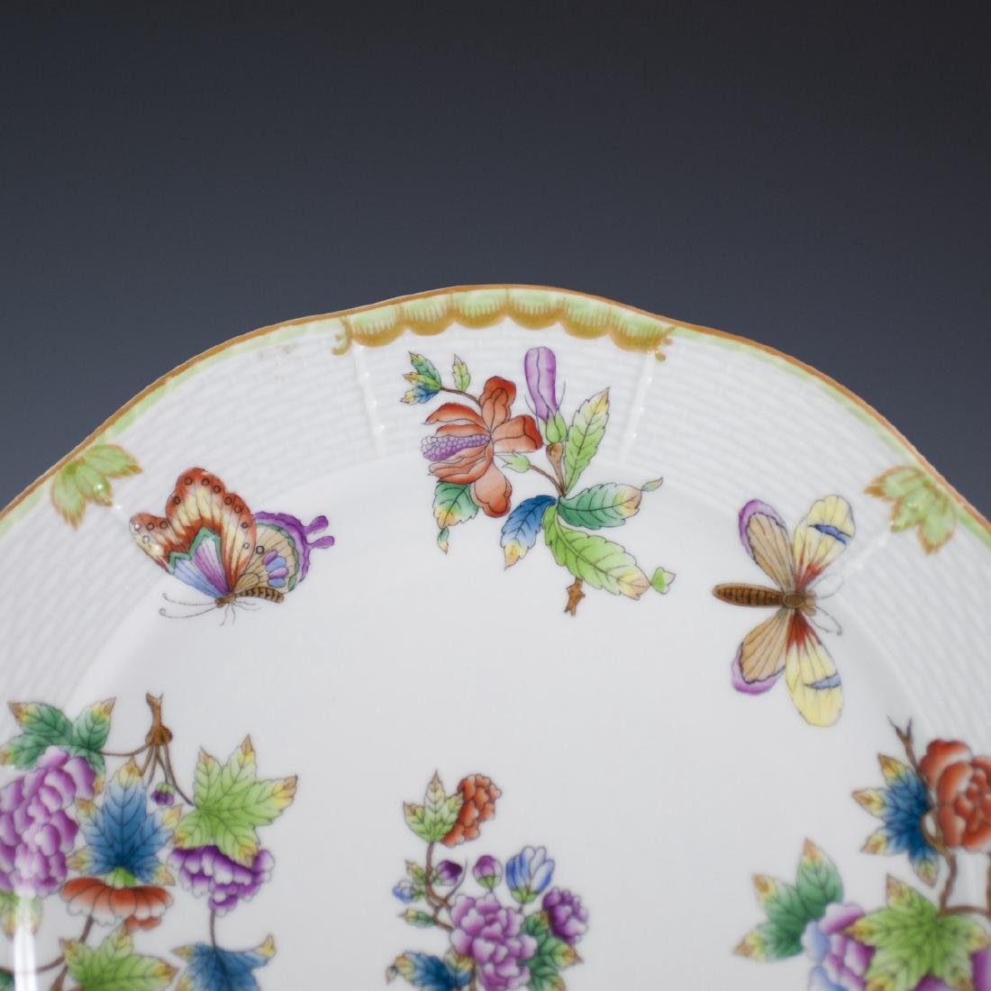 """Herend Porcelain """"Queen Victoria"""" Charger - 2"""