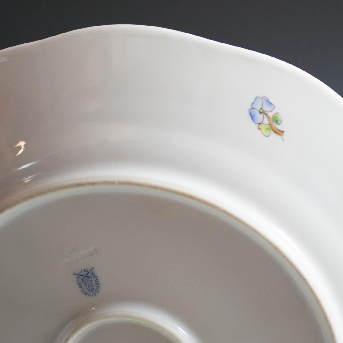"""Herend Porcelain """"Queen Victoria"""" Charger - 3"""