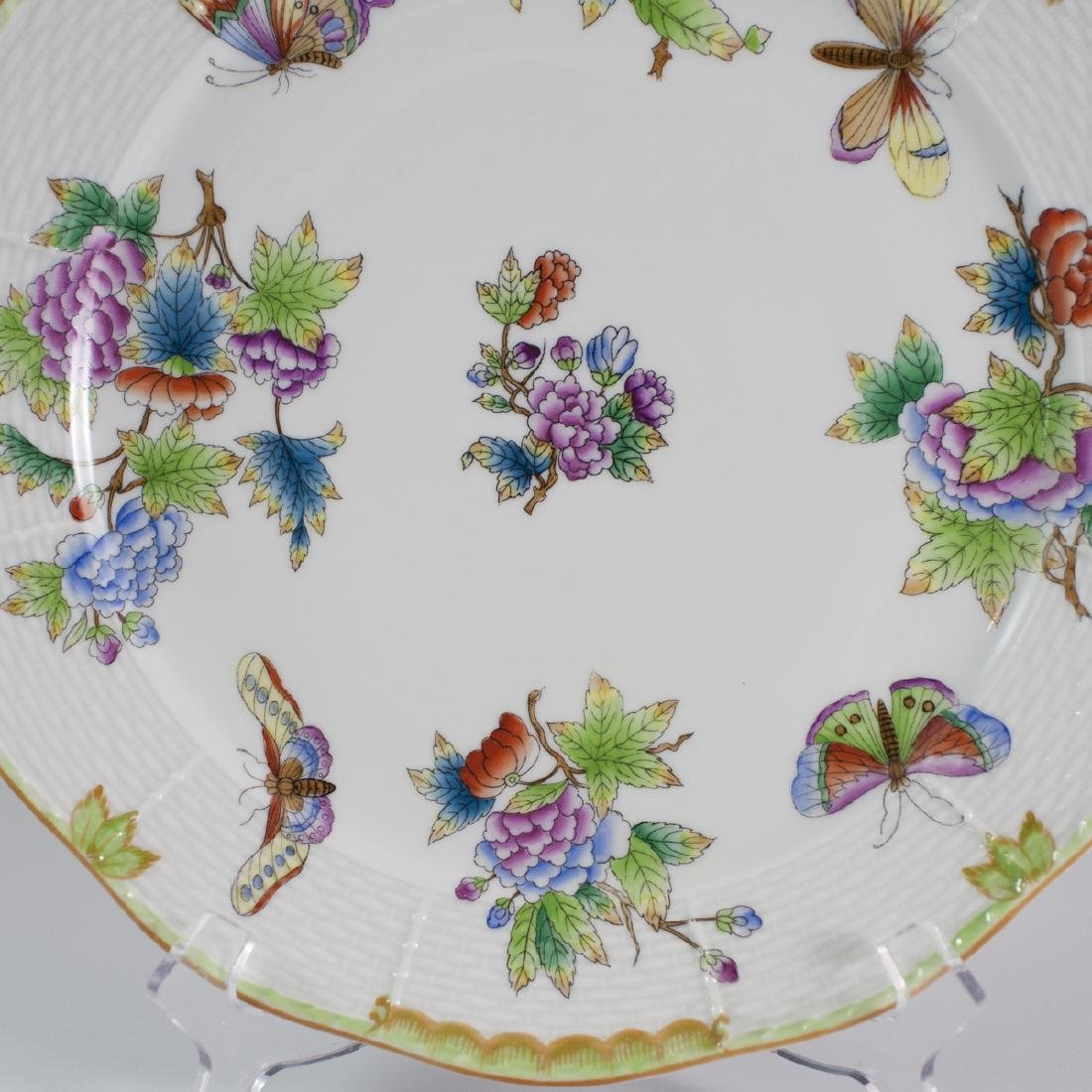 """Herend Porcelain """"Queen Victoria"""" Charger - 4"""