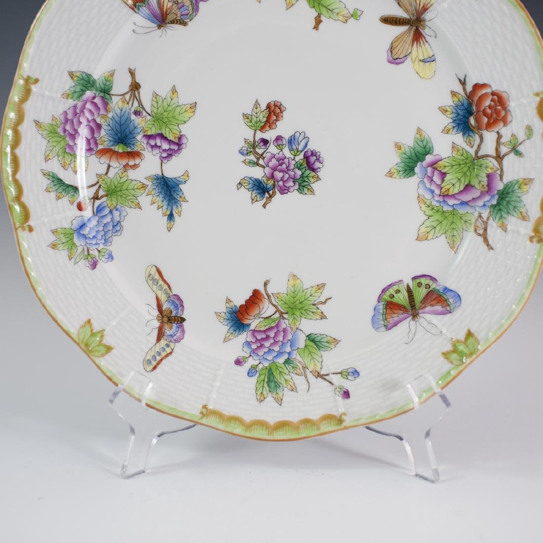 """Herend Porcelain """"Queen Victoria"""" Charger - 5"""