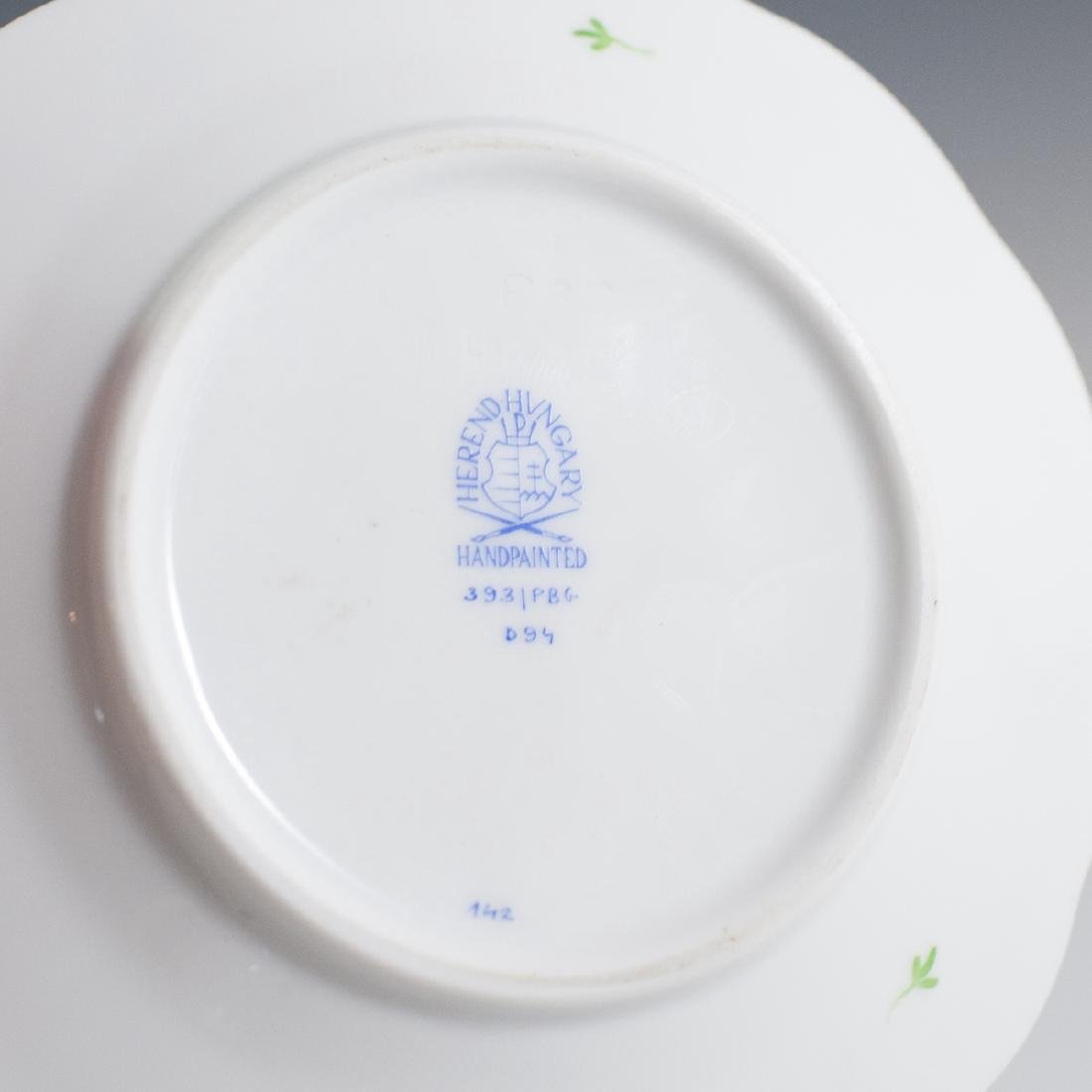 "Herend Porcelain ""Blue Garland"" Butter Dish - 3"
