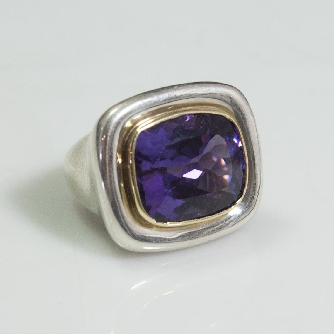 Tiffany & Co. Paloma Picasso Sterling 18kt Amethyst