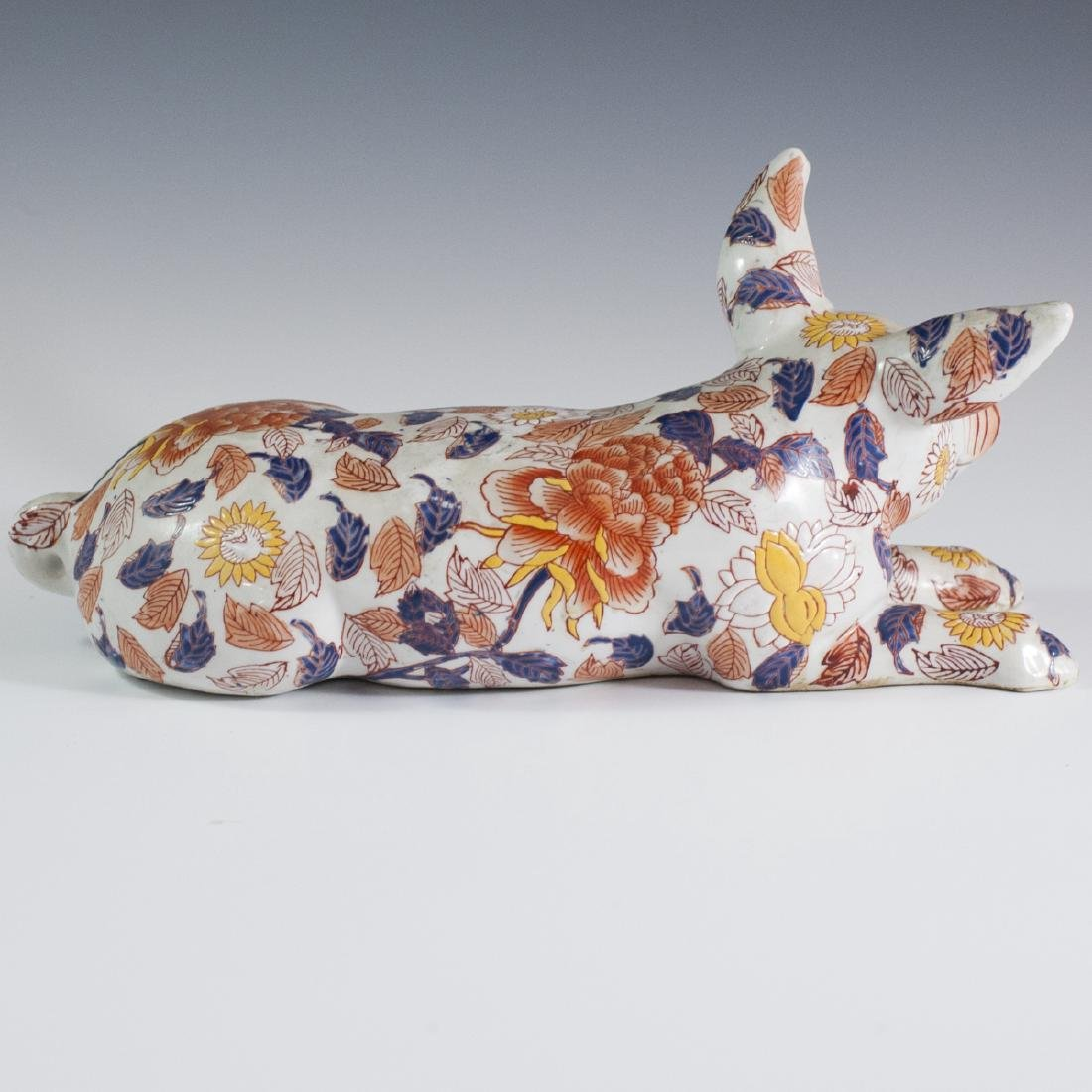 Japanese Enameled Imari Porcelain Pig - 4