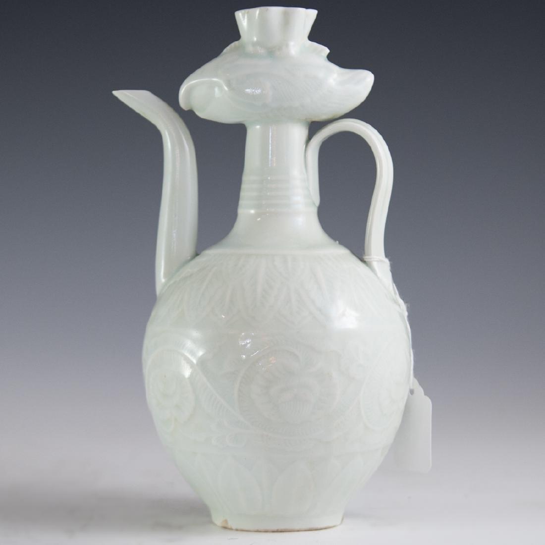 Antique Chinese Celadon Glazed Ewer