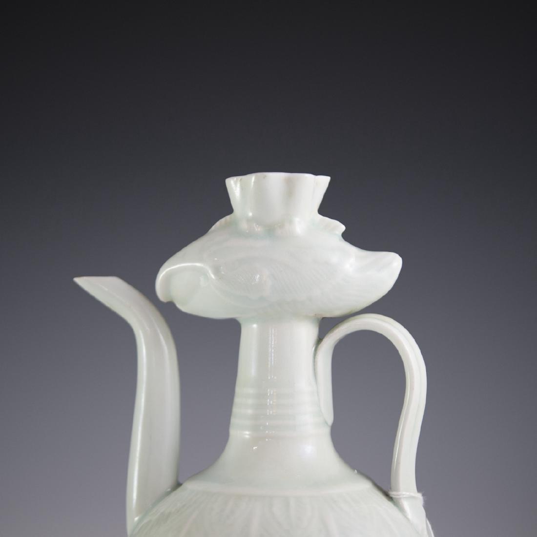 Antique Chinese Celadon Glazed Ewer - 2