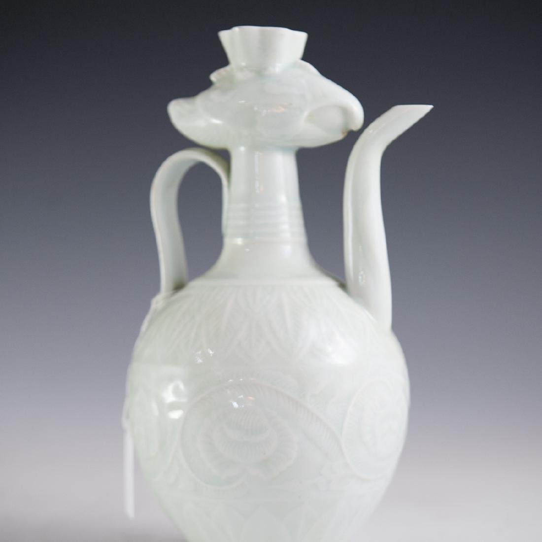 Antique Chinese Celadon Glazed Ewer - 3