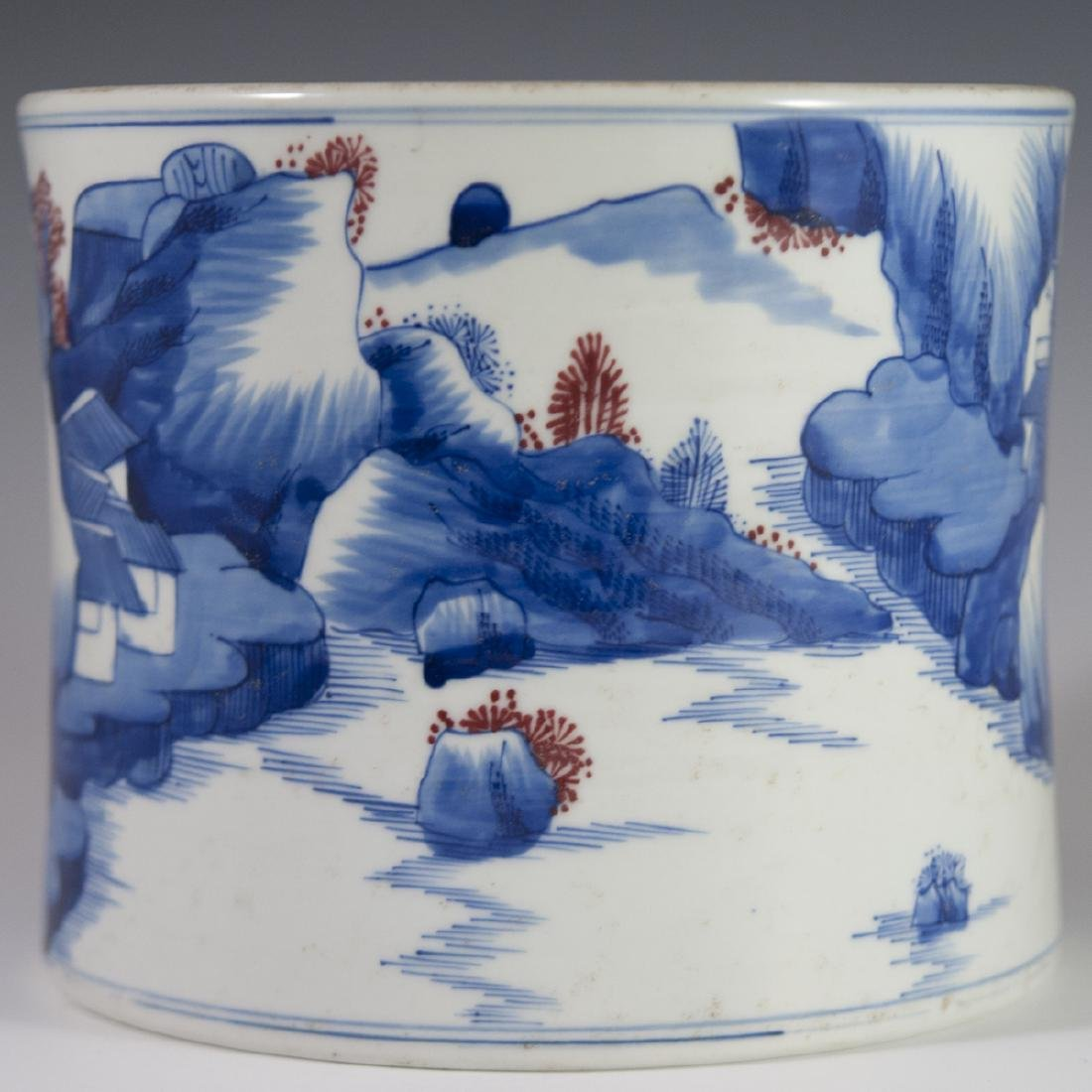 Chinese Porcelain Brushpot - 4
