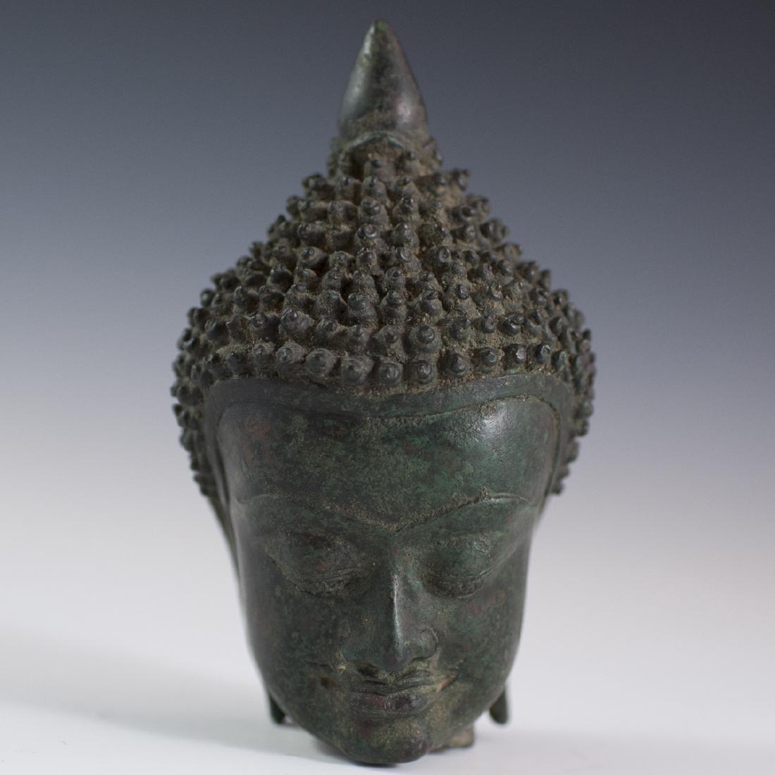 Sukhothai Style Bronze Buddha Bust