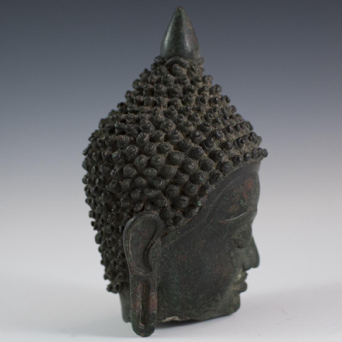 Sukhothai Style Bronze Buddha Bust - 2