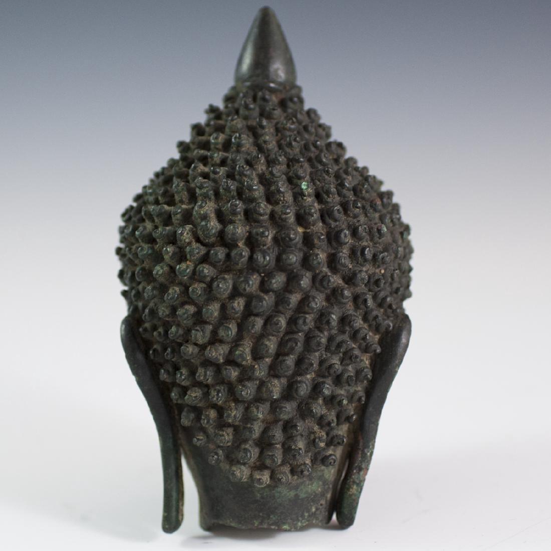 Sukhothai Style Bronze Buddha Bust - 3