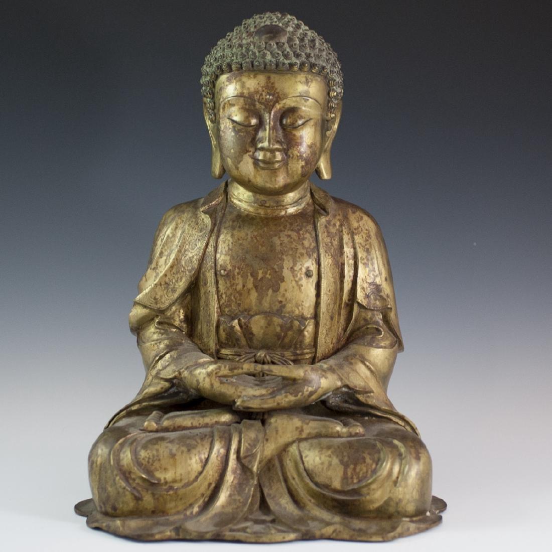 Gilt Bronze Southeast Asian Buddha