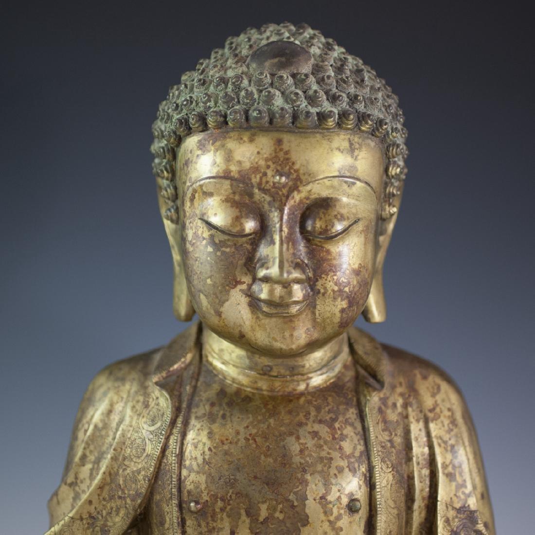 Gilt Bronze Southeast Asian Buddha - 2