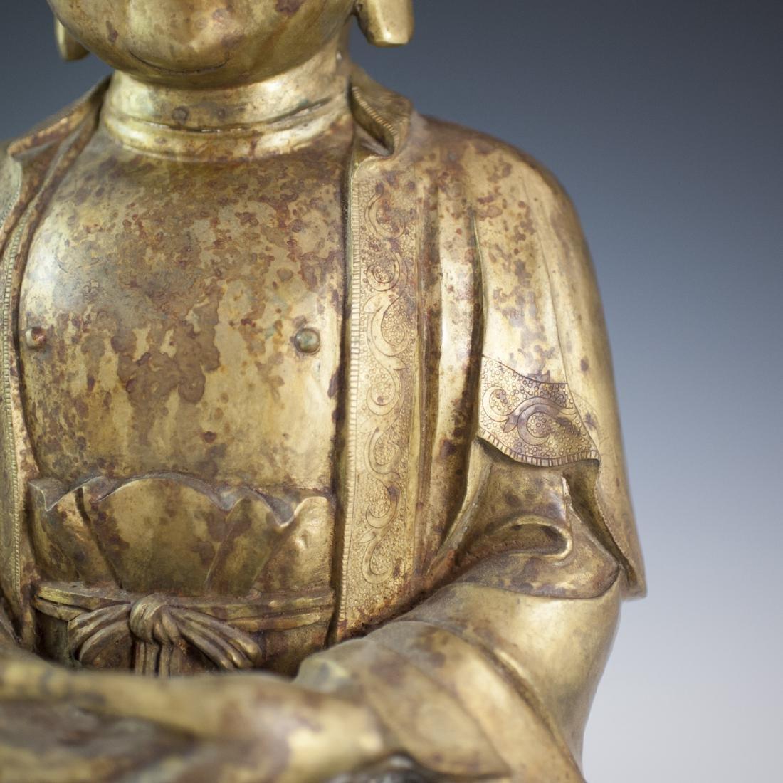 Gilt Bronze Southeast Asian Buddha - 3