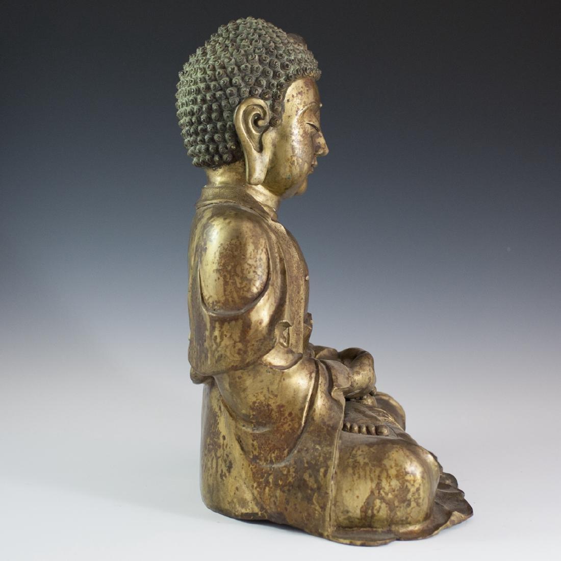 Gilt Bronze Southeast Asian Buddha - 4