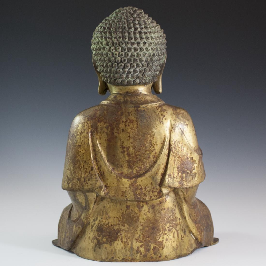 Gilt Bronze Southeast Asian Buddha - 5