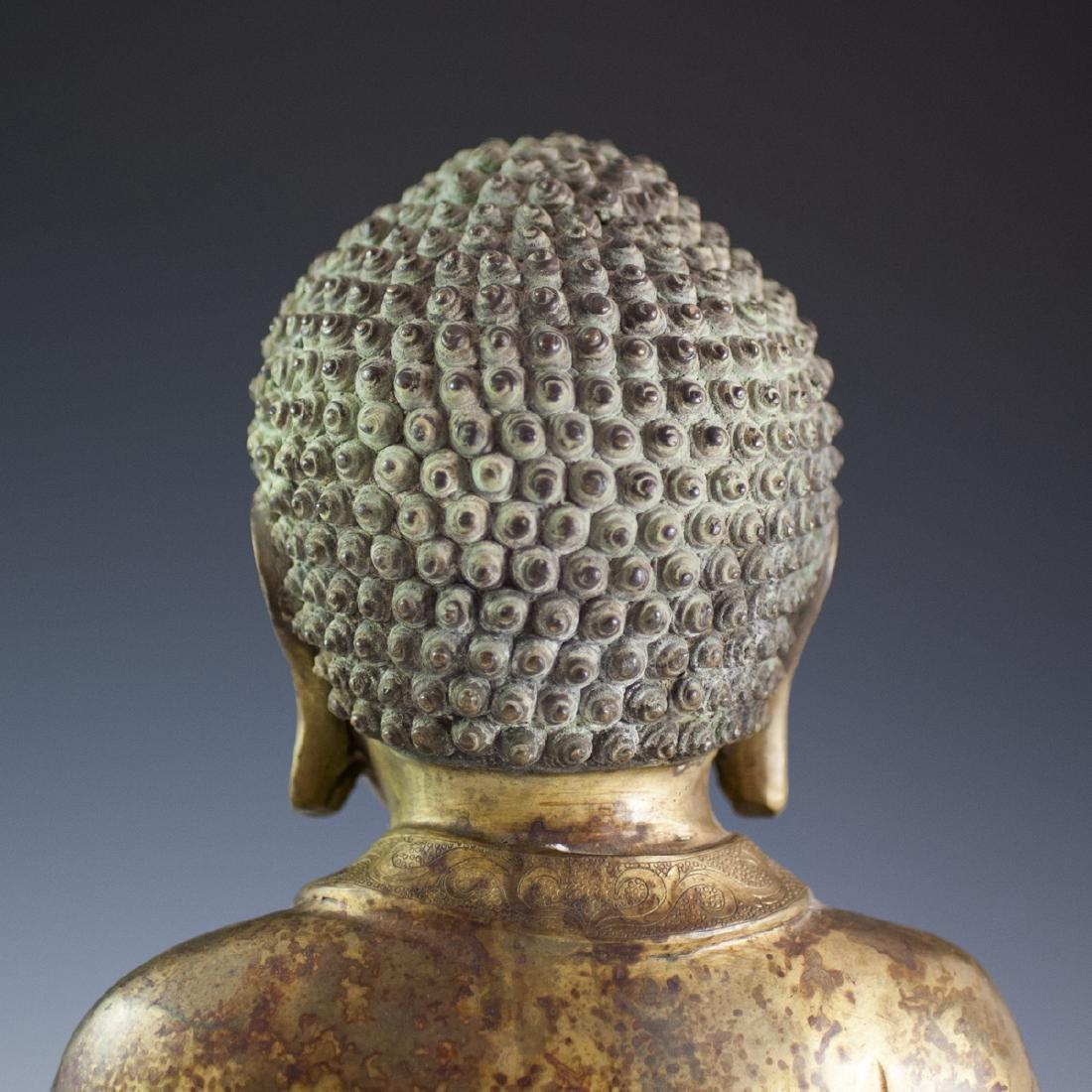 Gilt Bronze Southeast Asian Buddha - 6