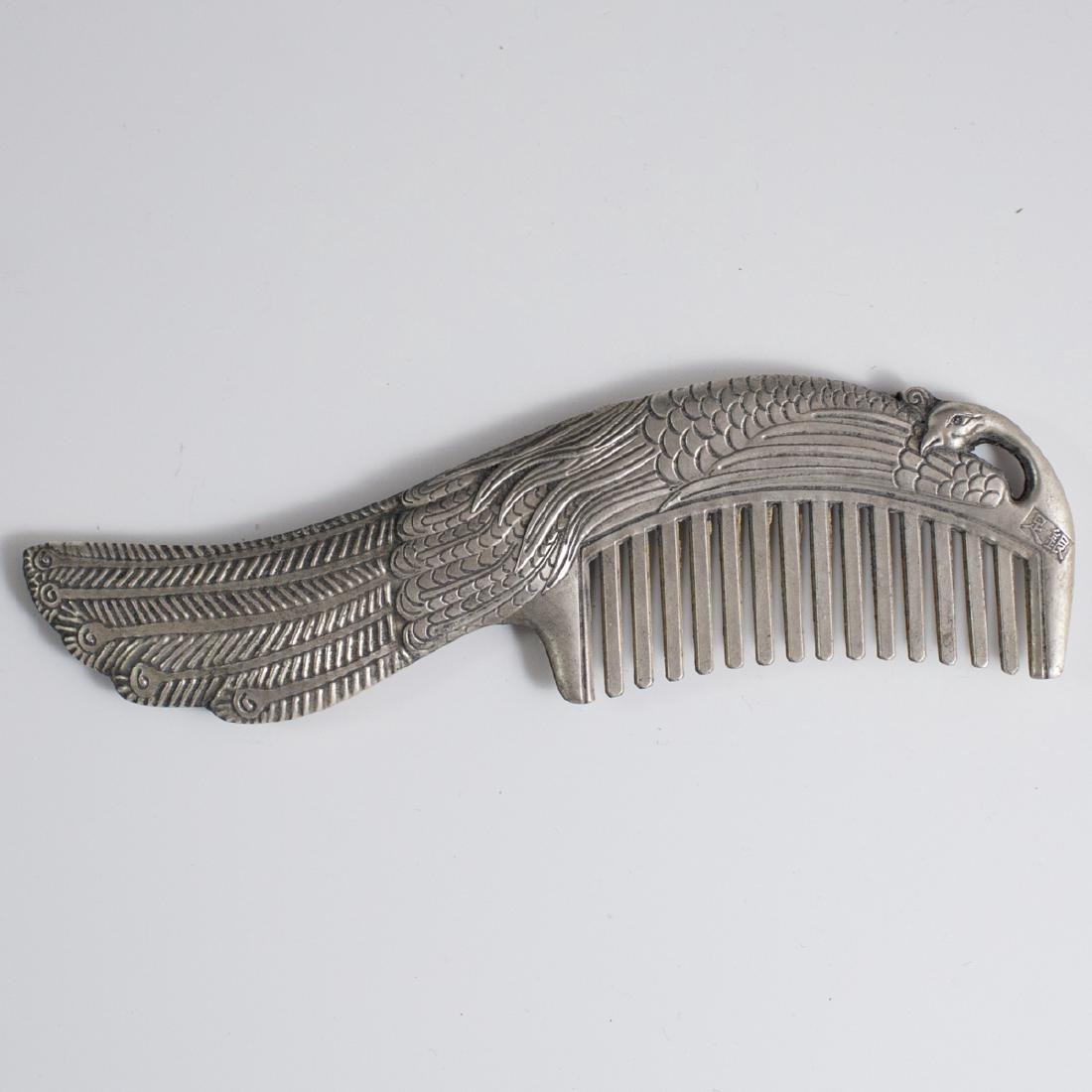 Chinese Stamped Peacock Comb - 2