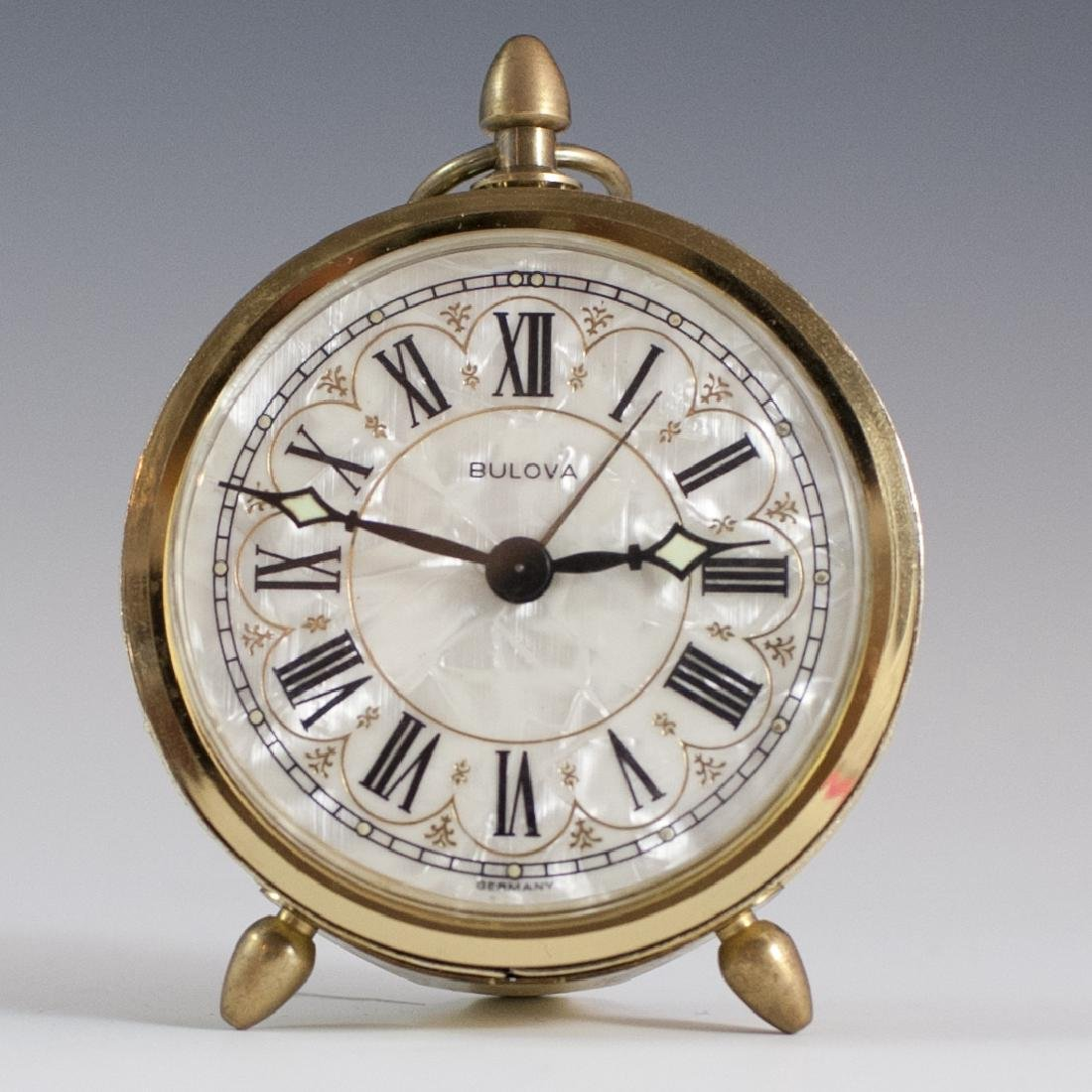 Bulova Mother of Pearl Alarm Clock
