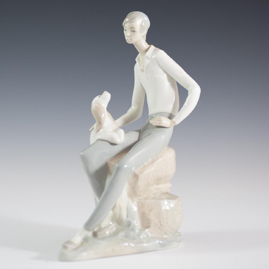 "Nao Lladro ""Hebrew Student W/ Dog"" Porcelain Figurine"