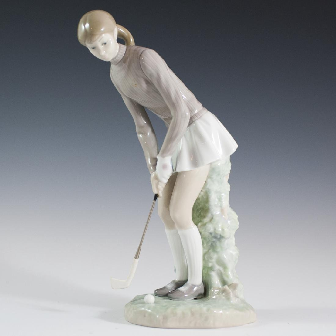 "Lladro Porcelain ""Golf Player"" (Woman) Figurine"