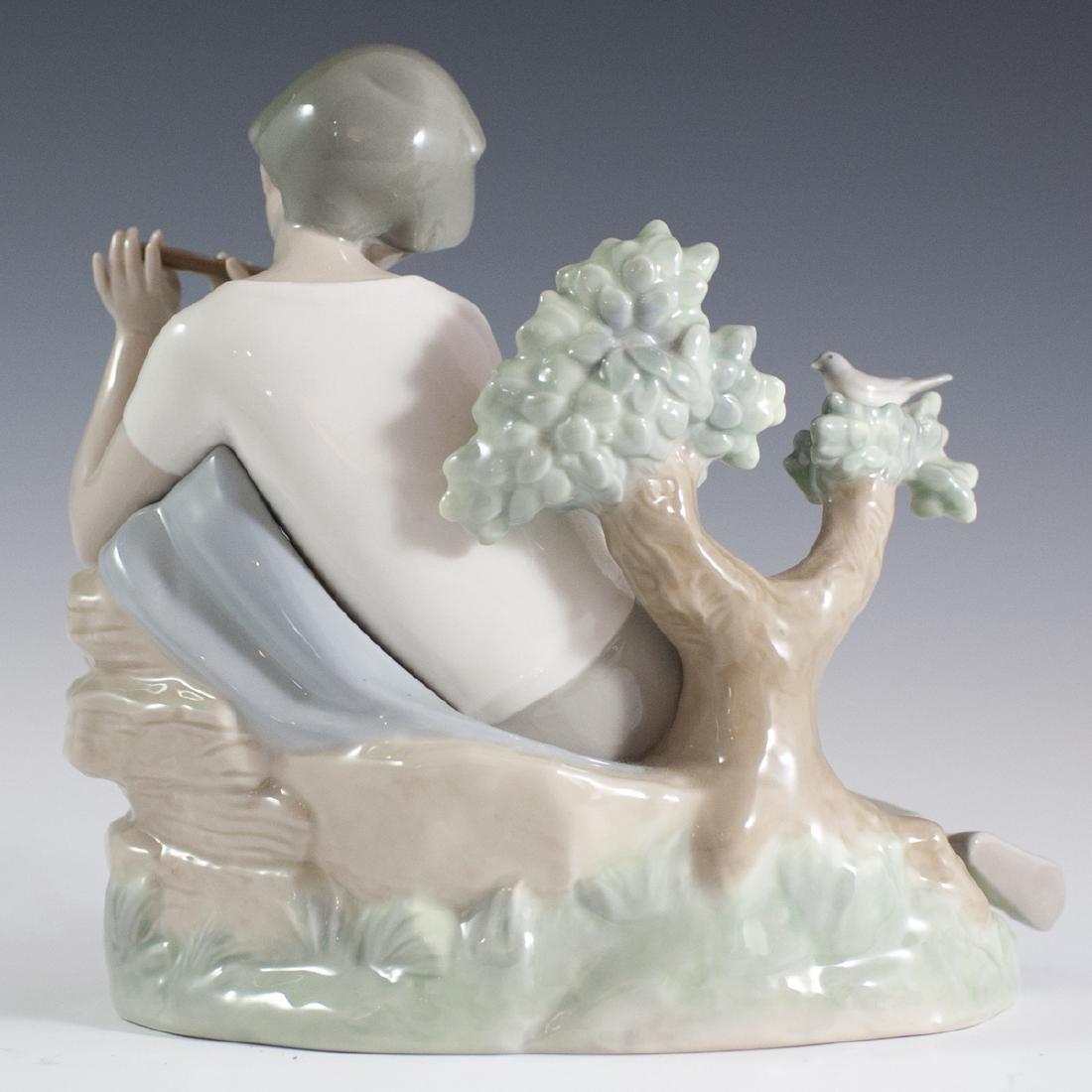 "Lladro Porcelain ""Student Flute Player"" Figurine - 4"