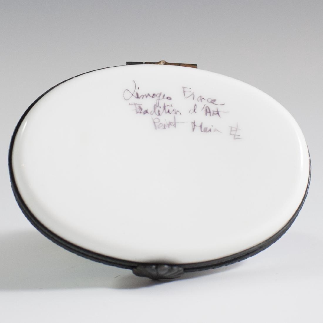 Limoges Porcelain Trinket Box - 3